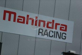 World © Octane Photographic Ltd. FIA Formula E testing Donington Park 10th July 2014. Mahindra Racing logo. Digital Ref : 1032CB1D3288