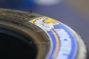 "World © Octane Photographic Ltd. FIA Formula E testing Donington Park 10th July 2014. Michelin 18"" tyres. Digital Ref : 1032CB1D3303"