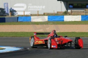 World © Octane Photographic Ltd. FIA Formula E testing Donington Park 10th July 2014. Spark-Renault SRT_01E. China Racing - Jerome D'Ambrosio. Digital Ref : 1032CB1D3344