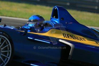 World © Octane Photographic Ltd. FIA Formula E testing Donington Park 10th July 2014. Spark-Renault SRT_01E. e.dams-Renault – Nicolas Prost. Digital Ref : 1032CB1D3363