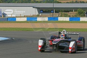 World © Octane Photographic Ltd. FIA Formula E testing Donington Park 10th July 2014. Spark-Renault SRT_01E. Mahindra Racing - Karun Chandhok. Digital Ref : 1032CB1D3402