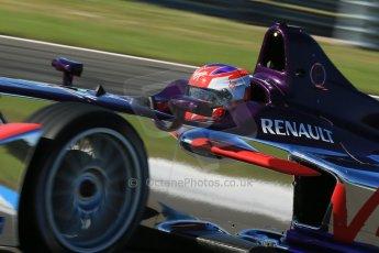 World © Octane Photographic Ltd. FIA Formula E testing Donington Park 10th July 2014. Spark-Renault SRT_01E. Virgin Racing - Sam Bird. Digital Ref : 1032CB1D3410