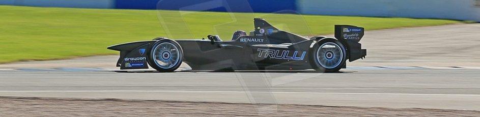 World © Octane Photographic Ltd. FIA Formula E testing Donington Park 10th July 2014. Spark-Renault SRT_01E. TrulliGP – Michela Cerruti. Digital Ref : 1032CB1D3415