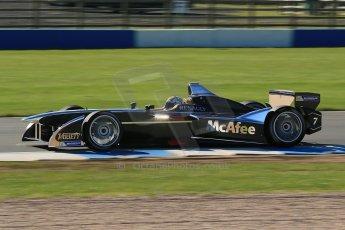World © Octane Photographic Ltd. FIA Formula E testing Donington Park 10th July 2014. Spark-Renault SRT_01E. Dragon Racing - Oriol Servia. Digital Ref : 1032CB1D3431