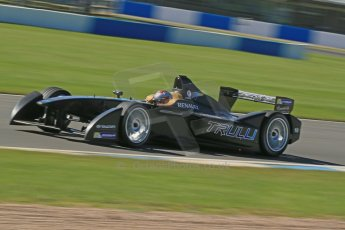 World © Octane Photographic Ltd. FIA Formula E testing Donington Park 10th July 2014. Spark-Renault SRT_01E. TrulliGP - Jarno Trulli. Digital Ref : 1032CB1D3541