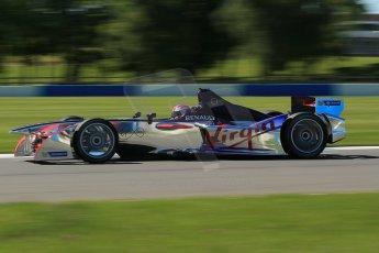 World © Octane Photographic Ltd. FIA Formula E testing Donington Park 10th July 2014. Spark-Renault SRT_01E. Virgin Racing - Sam Bird. Digital Ref : 1032CB1D3626