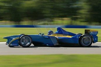 World © Octane Photographic Ltd. FIA Formula E testing Donington Park 10th July 2014. Spark-Renault SRT_01E. e.dams-Renault – Nicolas Prost. Digital Ref : 1032CB1D3641