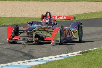 World © Octane Photographic Ltd. FIA Formula E testing Donington Park 10th July 2014. Spark-Renault SRT_01E. Virgin Racing - Sam Bird. Digital Ref : 1032CB1D4031