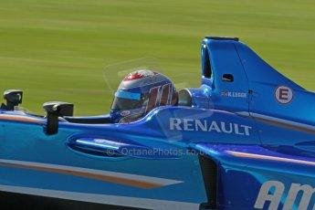 World © Octane Photographic Ltd. FIA Formula E testing Donington Park 10th July 2014. Spark-Renault SRT_01E. Amlin Aguri - Katherine Legge. Digital Ref : 1032CB1D4088