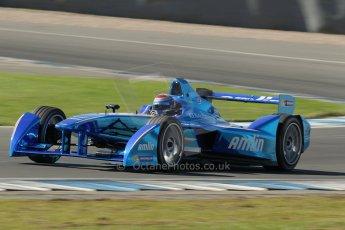 World © Octane Photographic Ltd. FIA Formula E testing Donington Park 10th July 2014. Spark-Renault SRT_01E. Amlin Aguri - Katherine Legge. Digital Ref : 1032CB1D4115