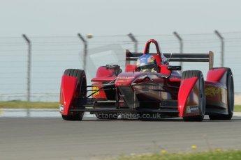 World © Octane Photographic Ltd. FIA Formula E testing Donington Park 10th July 2014. Spark-Renault SRT_01E. China Racing - Juan Manuel Lopez. Digital Ref : 1032CB1D4189