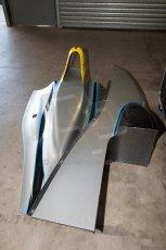 World © MountersPhotography/OctanePhotos.co.uk. FIA Formula E testing Donington Park 9th July 2014. Spark-Renault SRT_01E. Development car - Juan Manuel Lopez. Digital Ref : 1031JM1D0014