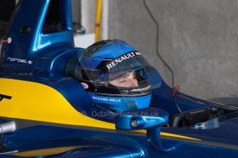 World © MountersPhotography/OctanePhotos.co.uk. FIA Formula E testing Donington Park 9th July 2014. Spark-Renault SRT_01E. e.dams-Renault – Nicolas Prost. Digital Ref : 1031JM1D0045