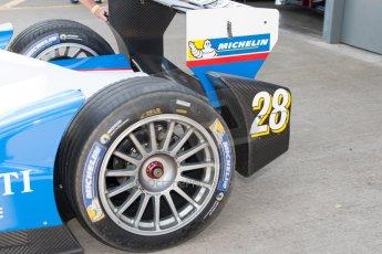 World © MountersPhotography/OctanePhotos.co.uk. FIA Formula E testing Donington Park 9th July 2014. Spark-Renault SRT_01E. Andretti Autosport - Franck Montagny. Digital Ref : 1031JM1D0048