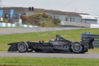 World © MountersPhotography/OctanePhotos.co.uk. FIA Formula E testing Donington Park 9th July 2014. Spark-Renault SRT_01E. TrulliGP - Jarno Trulli. Digital Ref : 1031JM1D0149