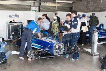 World © MountersPhotography/OctanePhotos.co.uk. FIA Formula E testing Donington Park 9th July 2014. Spark-Renault SRT_01E. Amlin Aguri - Katherine Legge. Digital Ref : 1031JM1D0287
