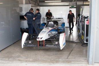 World © MountersPhotography/OctanePhotos.co.uk. FIA Formula E testing Donington Park 9th July 2014. Spark-Renault SRT_01E. Andretti Autosport - Franck Montagny. Digital Ref : 1031JM1D0290