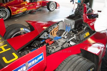 World © MountersPhotography/OctanePhotos.co.uk. FIA Formula E testing Donington Park 9th July 2014. Spark-Renault SRT_01E. China Racing – Jerome d'Ambrosio. Digital Ref : 1031JM1D9945