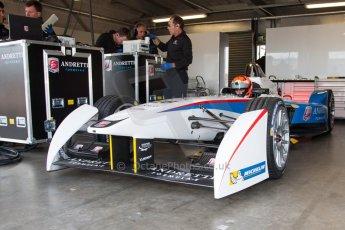 World © MountersPhotography/OctanePhotos.co.uk. FIA Formula E testing Donington Park 9th July 2014. Spark-Renault SRT_01E. Andretti Autosport – Scott Speed. Digital Ref : 1031JM1D9950