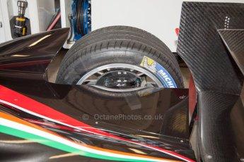 World © MountersPhotography/OctanePhotos.co.uk. FIA Formula E testing Donington Park 9th July 2014. Spark-Renault SRT_01E. Mahindra Racing - Bruno Senna. Digital Ref : 1031JM1D9986