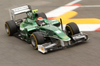 World © Octane Photographic Ltd. Thursday 22nd May 2014. GP2 Practice – Monaco, Monte Carlo. Alexander Rossi - EQ8 Caterham Racing. Digital Ref : 0959CB7D2201