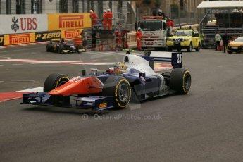 World © Octane Photographic Ltd. Thursday 22nd May 2014. GP2 Practice – Monaco, Monte Carlo. Johnny Cecotto - Trident. Digital Ref : 0959LB1D4329