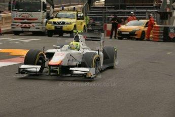 World © Octane Photographic Ltd. Thursday 22nd May 2014. GP2 Practice – Monaco, Monte Carlo. Kimiya Sato - Campos Racing. Digital Ref : 0959LB1D4379