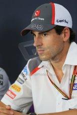 World © Octane Photographic Ltd. Thursday 17th July 2014. German GP, Hockenheim - Formula 1 FIA Press Conference. Sauber C33 – Adrian Sutil. Digital Ref: 1033LB1D3766
