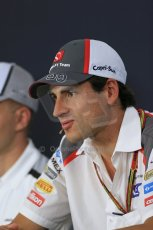 World © Octane Photographic Ltd. Thursday 17th July 2014. German GP, Hockenheim - Formula 1 FIA Press Conference. Sauber C33 – Adrian Sutil. Digital Ref: 1033LB1D3890