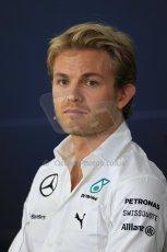 World © Octane Photographic Ltd. Thursday 17th July 2014. German GP, Hockenheim - Formula 1 FIA Press Conference. Mercedes AMG Petronas F1 W05 Hybrid - Nico Rosberg. Digital Ref: 1033LB1D4034
