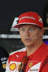 World © Octane Photographic Ltd. Thursday 17th July 2014. German GP, Hockenheim - Formula 1 FIA Press Conference. Scuderia Ferrari F14T – Kimi Raikkonen. Digital Ref: 1033LB1D4156
