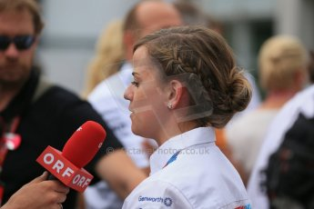 World © Octane Photographic Ltd. Sunday 20th July 2014. German GP, Hockenheim. - Formula 1 Parc Ferme. Williams Martini Racing – Claire Williams. Digital Ref: 1052LB1D8865