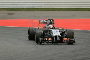 World © Octane Photographic Ltd. Sunday 20th July 2014. German GP, Hockenheim. - Formula 1 Race. Sahara Force India VJM07 – Nico Hulkenburg. Digital Ref :