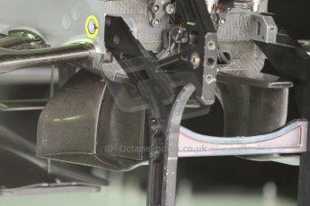World © Octane Photographic Ltd. Sunday 20th July 2014. German GP, Hockenheim. - Formula 1 Pitlane. Mercedes AMG Petronas F1 W05 Hybrid under nose turning vanes – Nico Rosberg. Digital Ref: