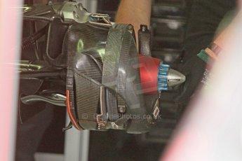 World © Octane Photographic Ltd. Sunday 20th July 2014. German GP, Hockenheim. - Formula 1 Pitlane. Mercedes AMG Petronas F1 W05 Hybrid rear brake (with disc) – Lewis Hamilton. Digital Ref: