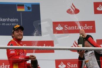 World © Octane Photographic Ltd. Sunday 20th July 2014. GP2 Race 2 – German GP - Hockenheim. Stefano Coletti - Racing Engineering (1st) and Stoffel Vandoorne - ART Grand Prix (3rd). Digital Ref : 1050CB7D6105