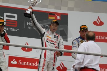 World © Octane Photographic Ltd. Sunday 20th July 2014. GP3 Race 2. German GP, Hockenheim. Jann Mardenborough celebrates his 1st GP3 win - Arden International. Digital Ref : 1049CB7D5824