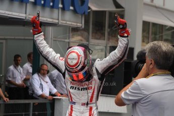World © Octane Photographic Ltd. Sunday 20th July 2014. GP3 Race 2. German GP, Hockenheim. Jann Mardenborough celebrates his 1st GP3 win - Arden International. Digital Ref : 1049CB7D6498