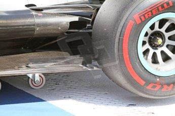World © Octane Photographic Ltd. Saturday 19th July 2014. German GP, Hockenheim. - Formula 1 Qualifying. Mercedes AMG Petronas F1 W05 Hybrid rear outer floor. Digital Ref: