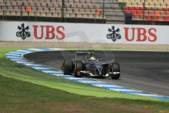 World © Octane Photographic Ltd. Saturday 19th July 2014. German GP, Hockenheim. - Formula 1 Qualifying. Sauber C33 – Esteban Gutierrez. Digital Ref :