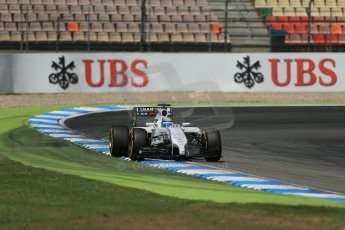 World © Octane Photographic Ltd. Saturday 19th July 2014. German GP, Hockenheim. - Formula 1 Qualifying. Williams Martini Racing FW36 – Felipe Massa. Digital Ref:
