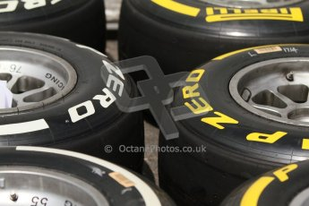 World © Octane Photographic Ltd. Thursday 17th July 2014. GP2 Paddock – German GP - Hockenheim. Tyre choice for GP2. Digital Ref : 1034CB7D4547