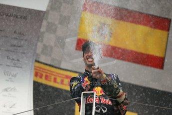 World © Octane Photographic Ltd. Sunday 27th July 2014. Hungarian GP, Hungaroring - Budapest. Podium. Infiniti Red Bull Racing RB10 – Daniel Ricciardo. Digital Ref: 1074LB1D4504