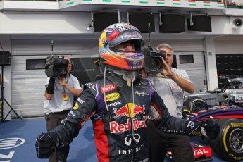 World © Octane Photographic Ltd. Sunday 27th July 2014. Hungarian GP, Hungaroring - Budapest. Podium. Infiniti Red Bull Racing RB10 – Daniel Ricciardo. Digital Ref: 1074LB1D5033