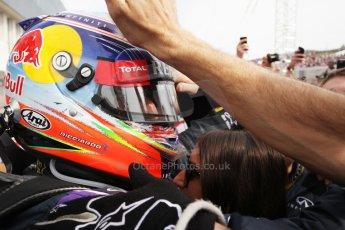 World © Octane Photographic Ltd. Sunday 27th July 2014. Hungarian GP, Hungaroring - Budapest. Podium. Infiniti Red Bull Racing RB10 – Daniel Ricciardo. Digital Ref: 1074LB1D5050