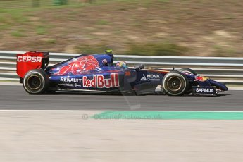 World © Octane Photographic Ltd. Friday 25th July 2014. Hungarian GP, Hungaroring - Budapest. - Formula 1 Practice 2. Scuderia Toro Rosso STR 9 – Daniil Kvyat. Digital Ref: 1057CB7D6815