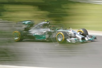 World © Octane Photographic Ltd. Friday 25th July 2014. Hungarian GP, Hungaroring - Budapest. - Formula 1 Practice 2. Mercedes AMG Petronas F1 W05 Hybrid - Nico Rosberg. Digital Ref: 1057CB7D6962