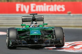 World © Octane Photographic Ltd. 2014 Friday 25th July 2014. Hungarian GP, Hungaroring - Budapest. Practice 2. Caterham F1 Team CT05 – Kamui Kobayashi. Digital Ref: 1057LB1D0071