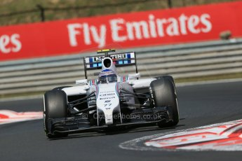 World © Octane Photographic Ltd. 2014 Friday 25th July 2014. Hungarian GP, Hungaroring - Budapest. Practice 2. Williams FW36 – Valtteri Bottas Digital Ref: 1057LB1D0420