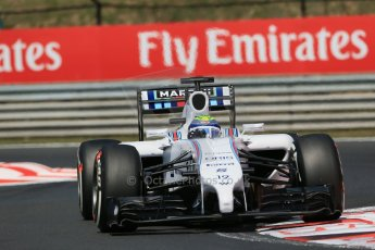 World © Octane Photographic Ltd. 2014 Friday 25th July 2014. Hungarian GP, Hungaroring - Budapest. Practice 2. Williams FW36 – Felipe Massa. Digital Ref: 1057LB1D0445